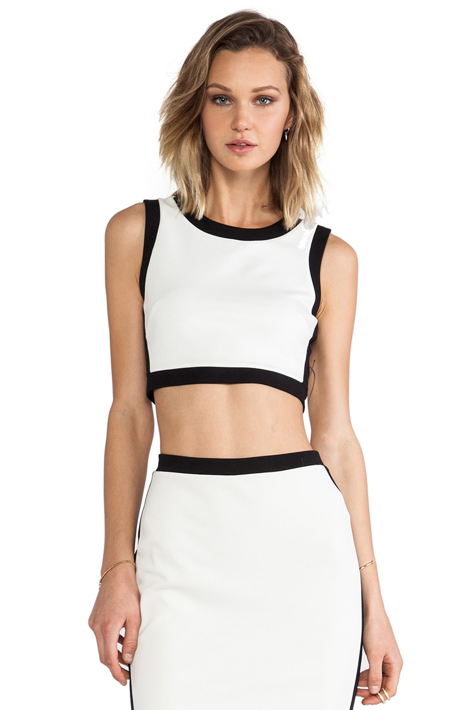 Bailey 44 Camaroon Crop in Alabaster/Black