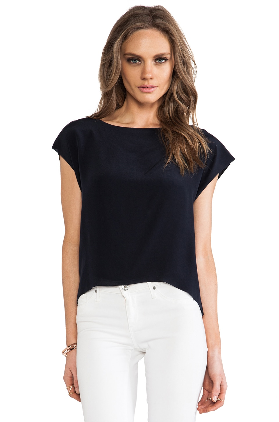 Bailey 44 Third Rail Cocktail Top in Navy