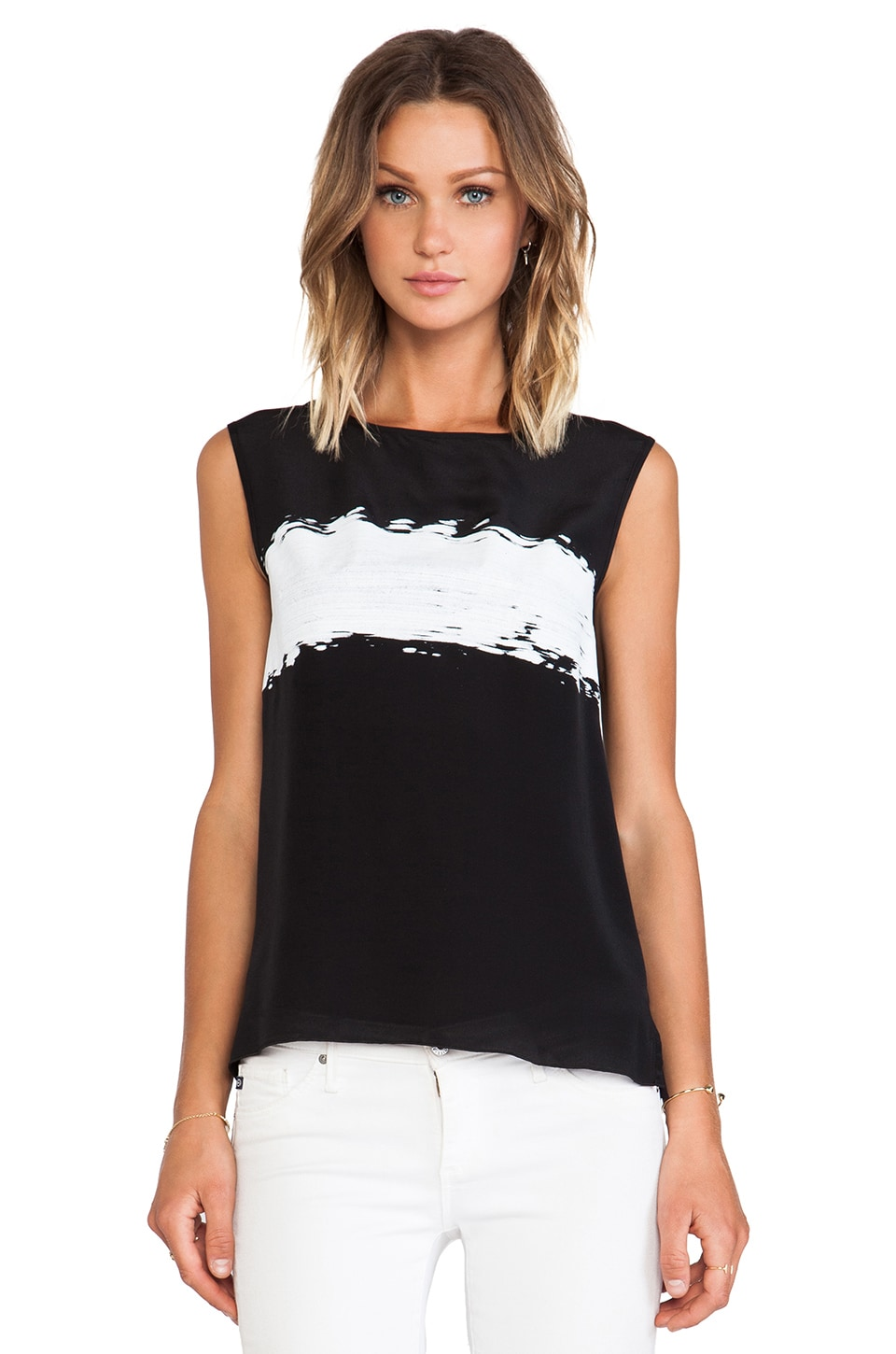 Bailey 44 Brush Stroke Top in Black