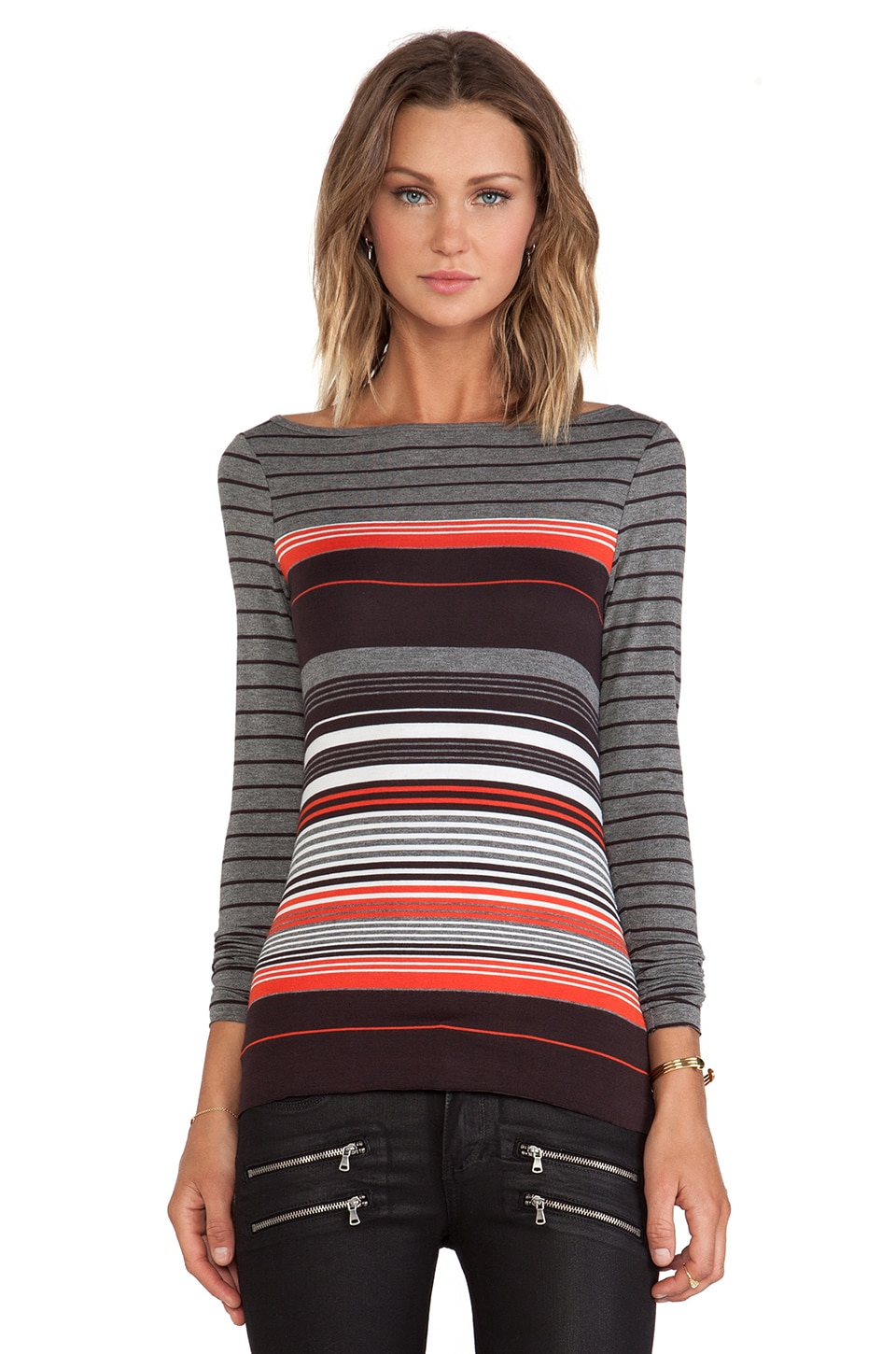Bailey 44 Autumnal Top Multi Strupe in Multi Stripe