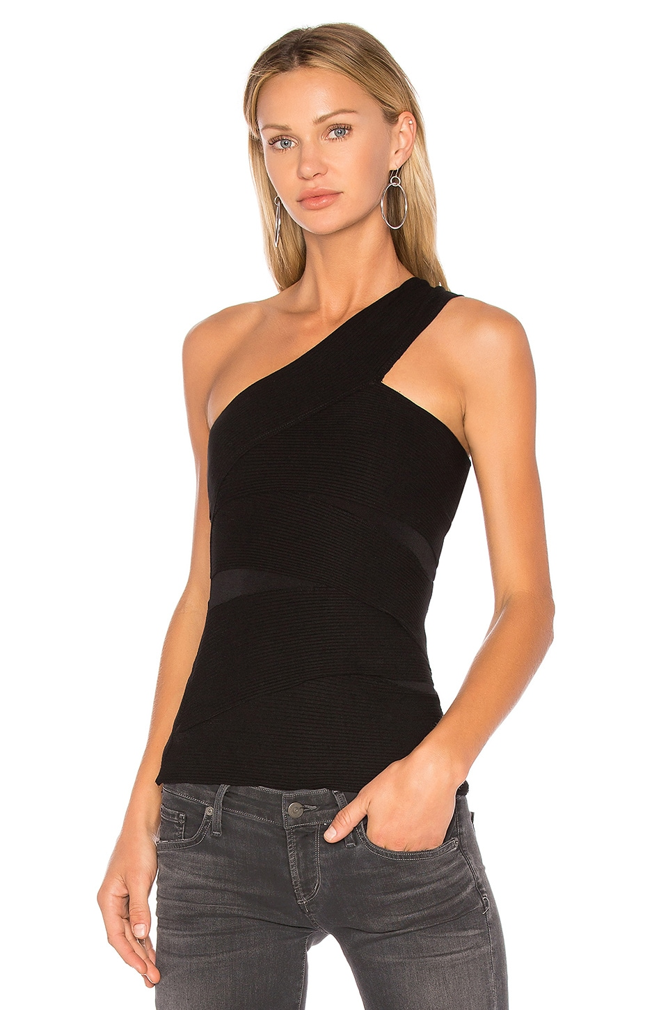 Bailey 44 Black Spin Out Top