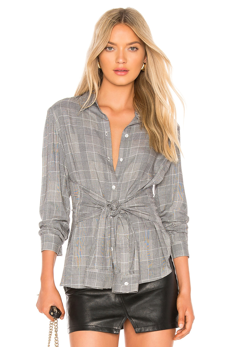 Bailey 44 Hold Me Tight Top en Plaid Multi