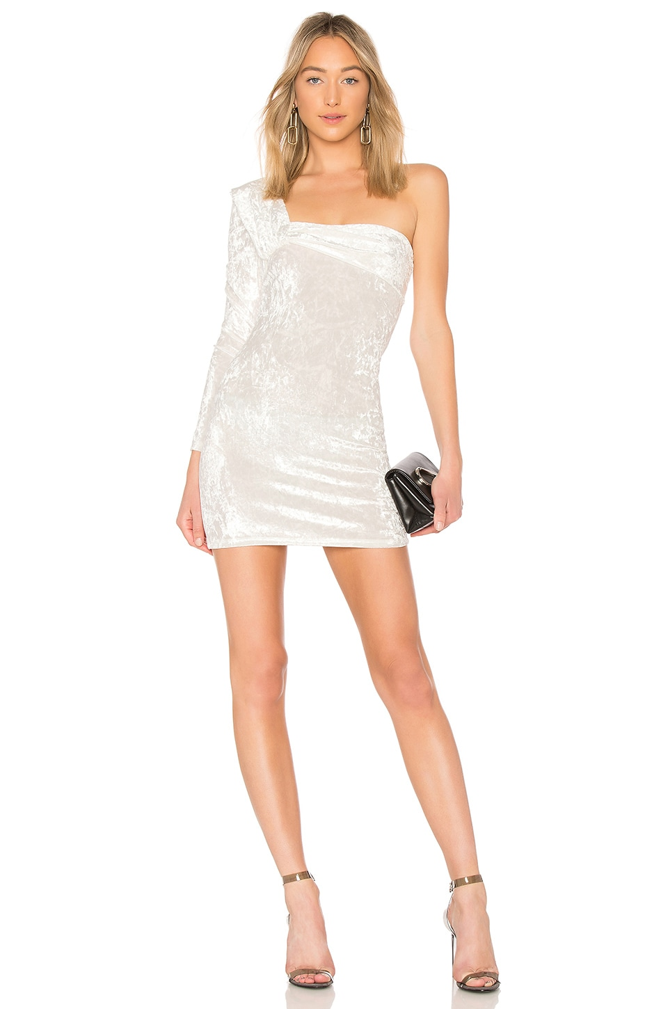 BAJA EAST ONE SLEEVE CONTOUR MINI DRESS