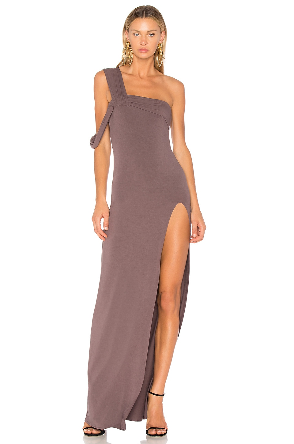 One Shoulder Maxi Dress by Baja East