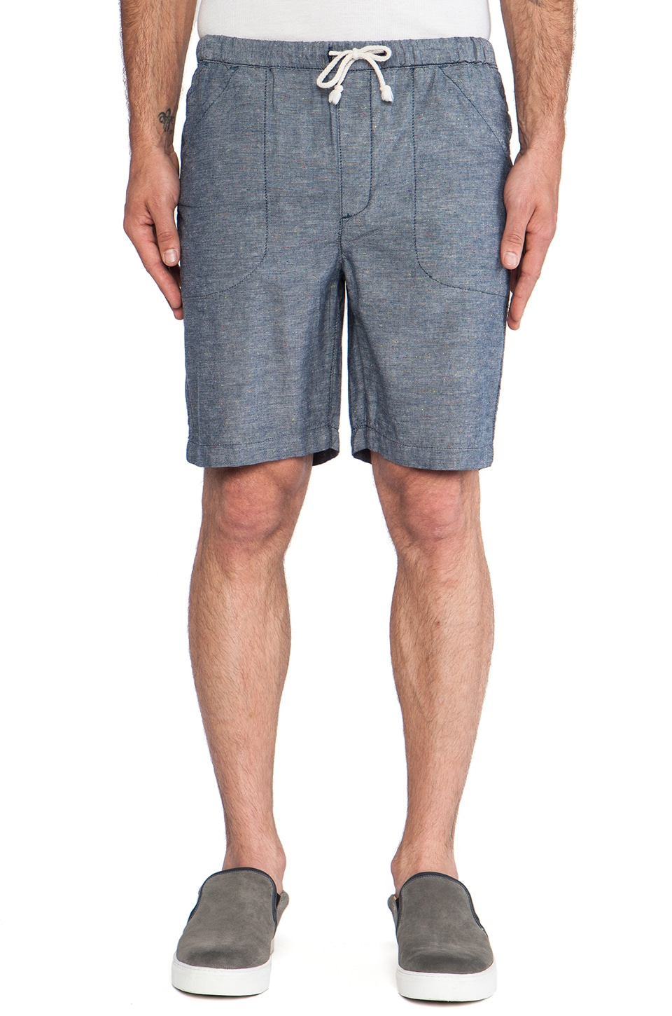 baldwin The Venice Beach Short in Rinsed Chambray