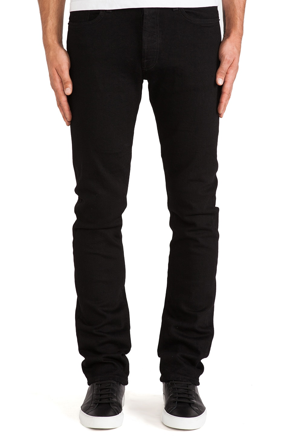 baldwin The 76 Slim in Black Stretch