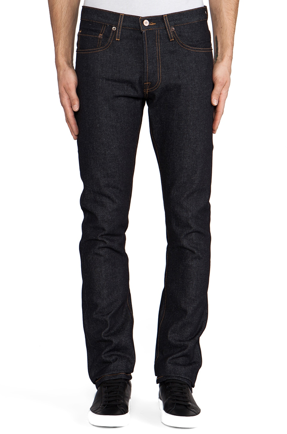 baldwin The 76 Mid Rise Tapered Leg in Dry
