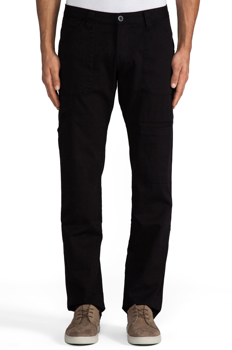 baldwin The Cash Utility Pant en Black Twill