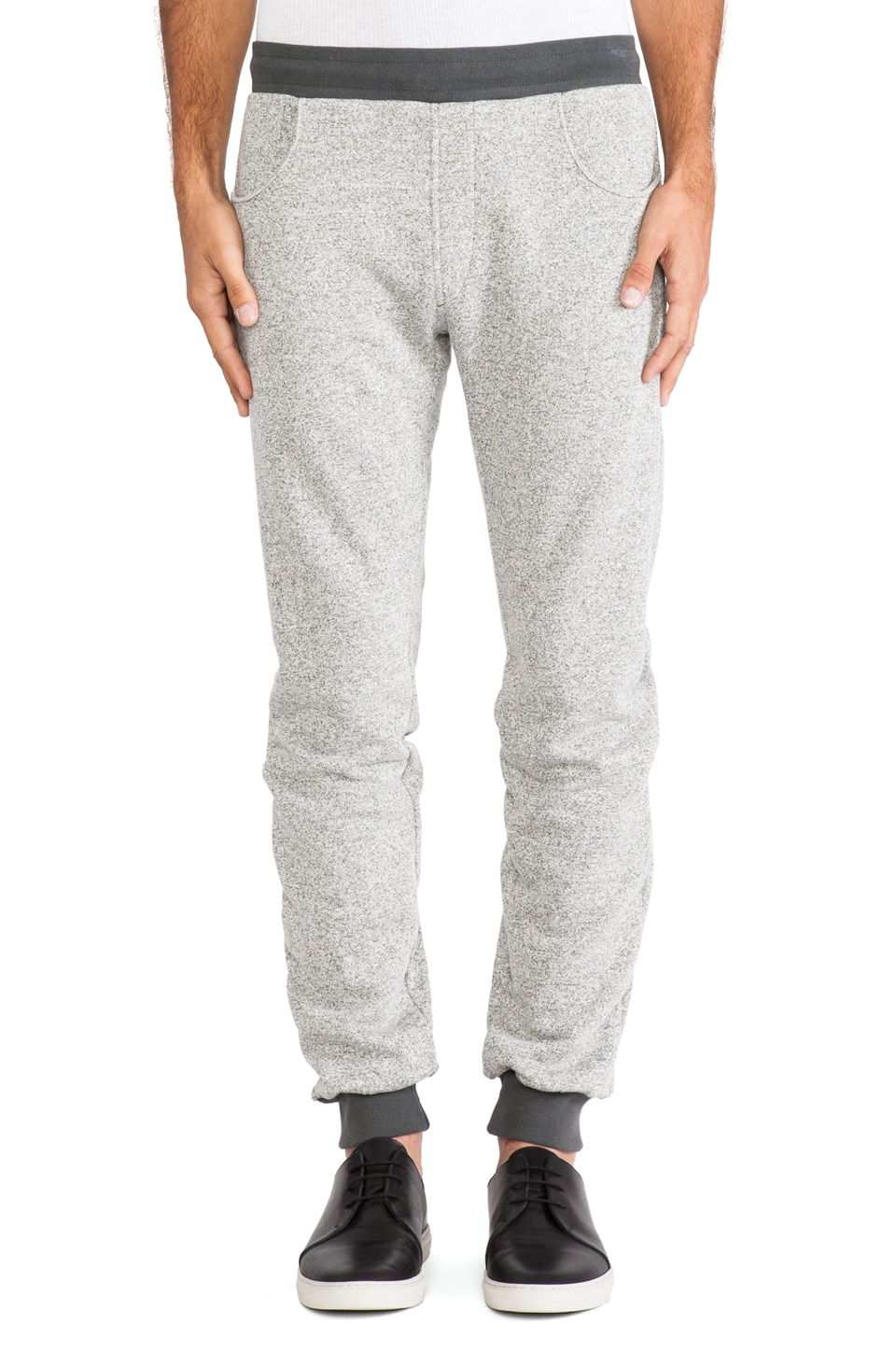 baldwin The Henley Sweatpant in Heather Graphite