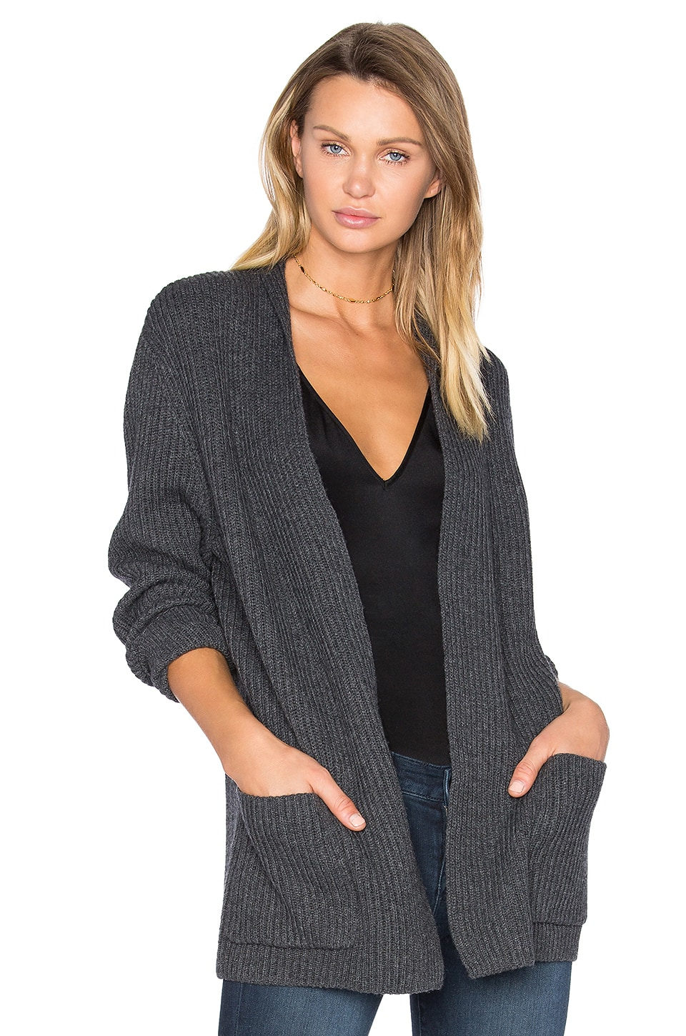 baldwin Grandpa Cardigan in Heathered