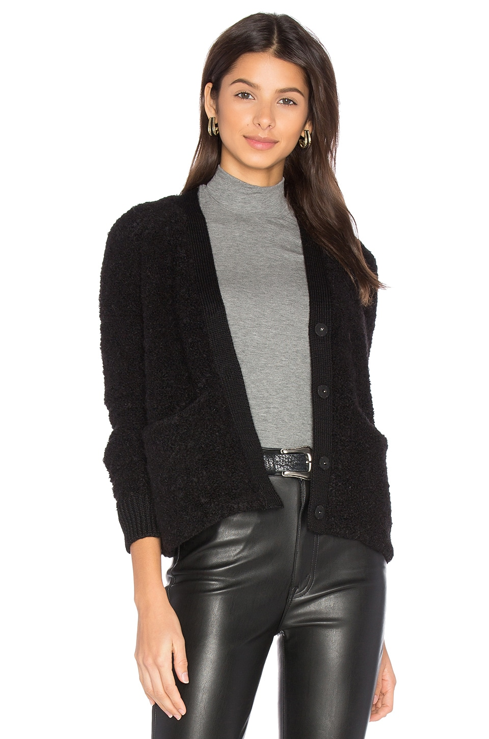 baldwin Effie Crop Cardigan in Black