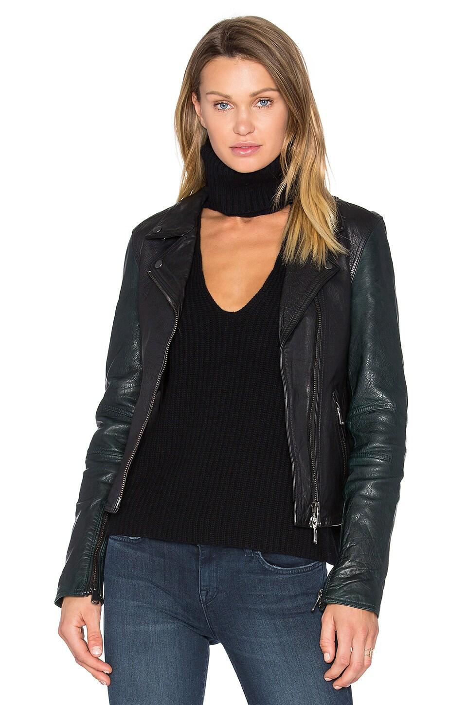 Sadie Leather Moto Jacket by baldwin