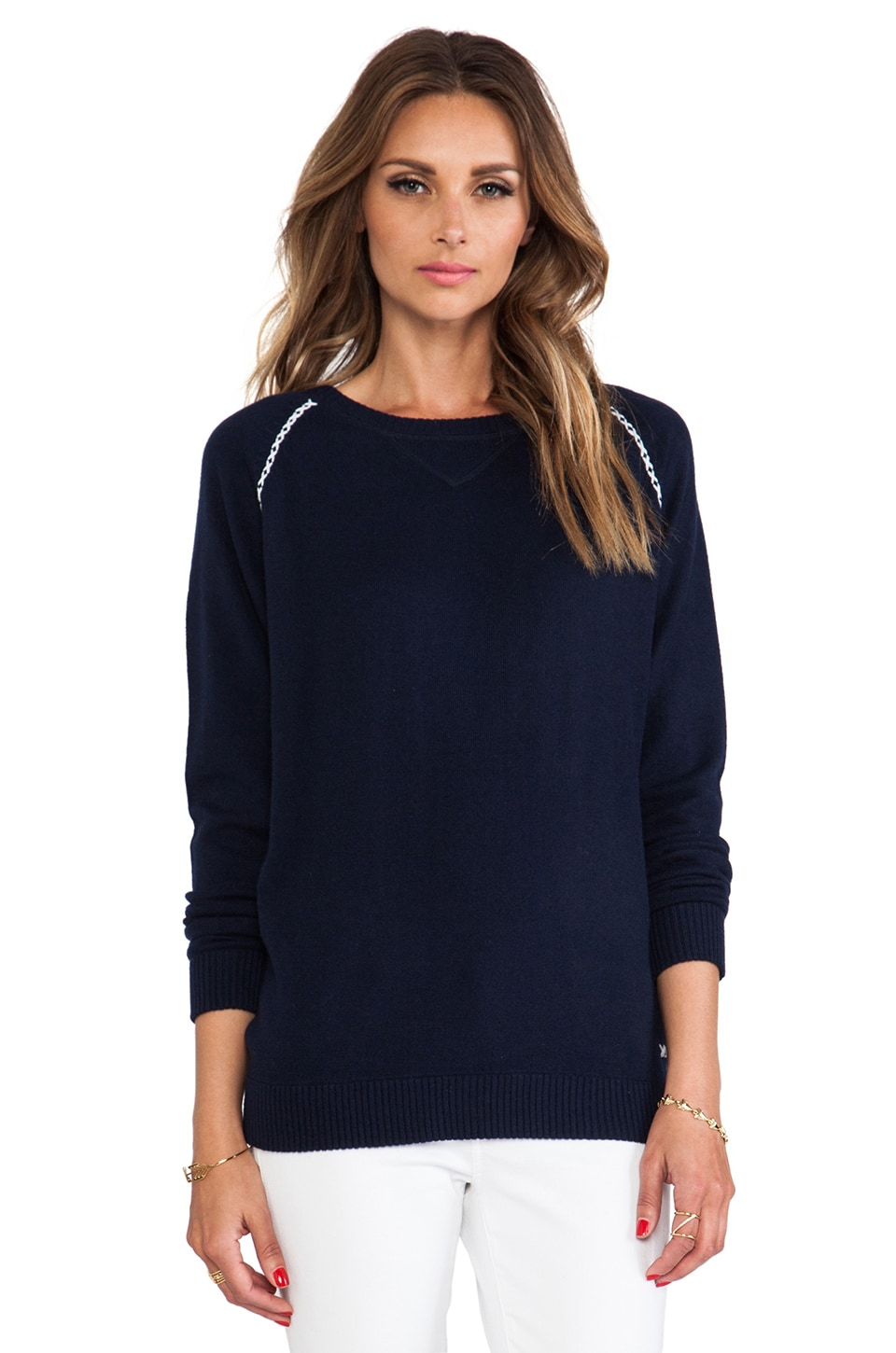 Banjo & Matilda Sloppy Jojo Sweater in Navy