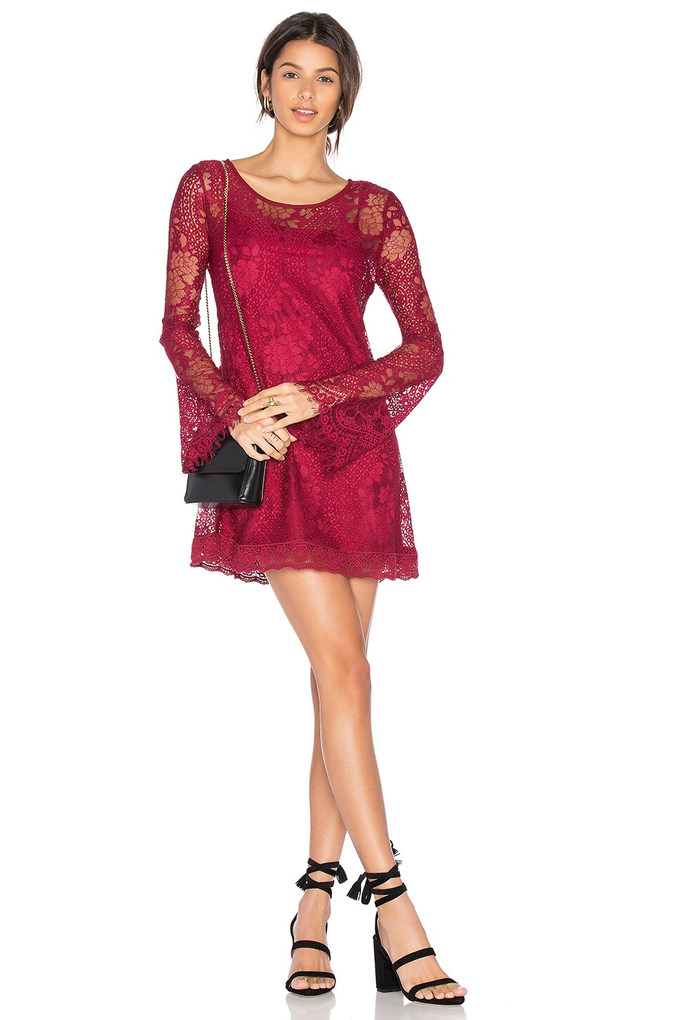 Band of Gypsies Lace Dress in Chili Pepper Red