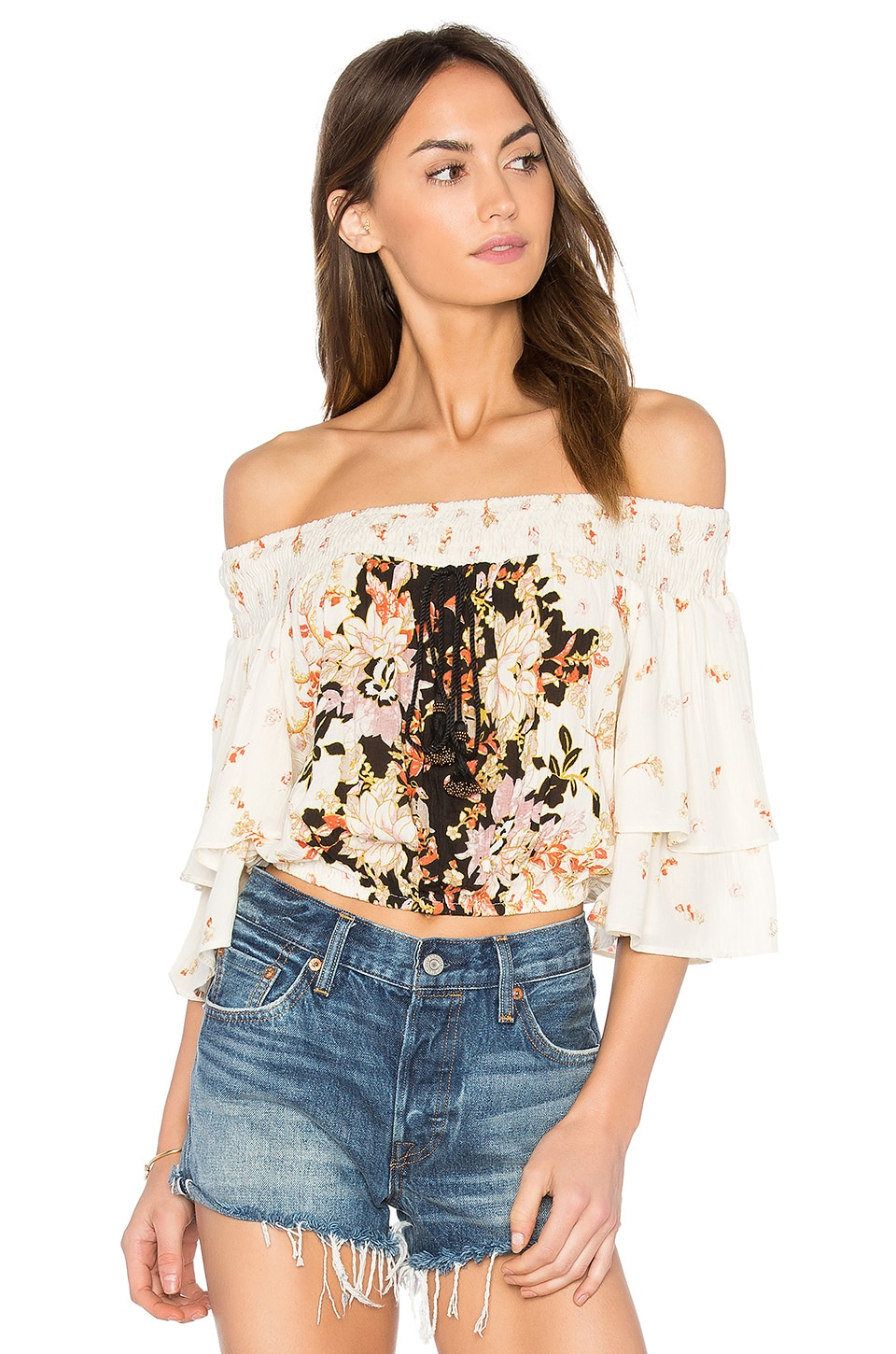 Poinsettia Floral Blouse by Band Of Gypsies