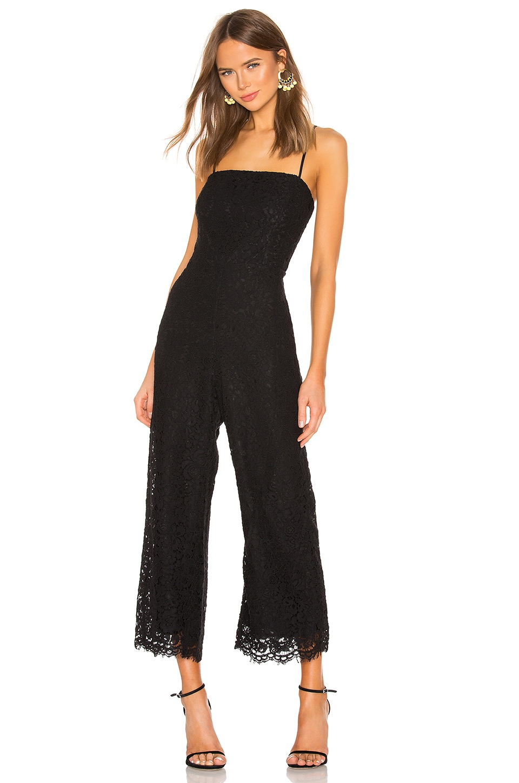 Bardot Sienna Lace Jumpsuit in Black