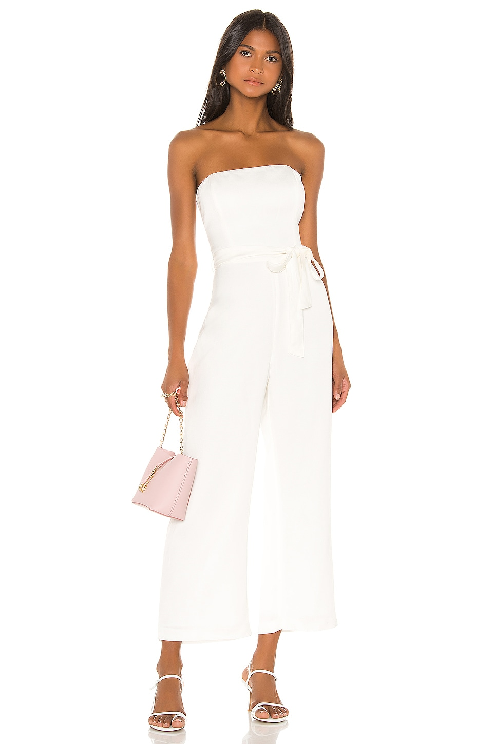 Bardot Cabo Jumpsuit in Ivory