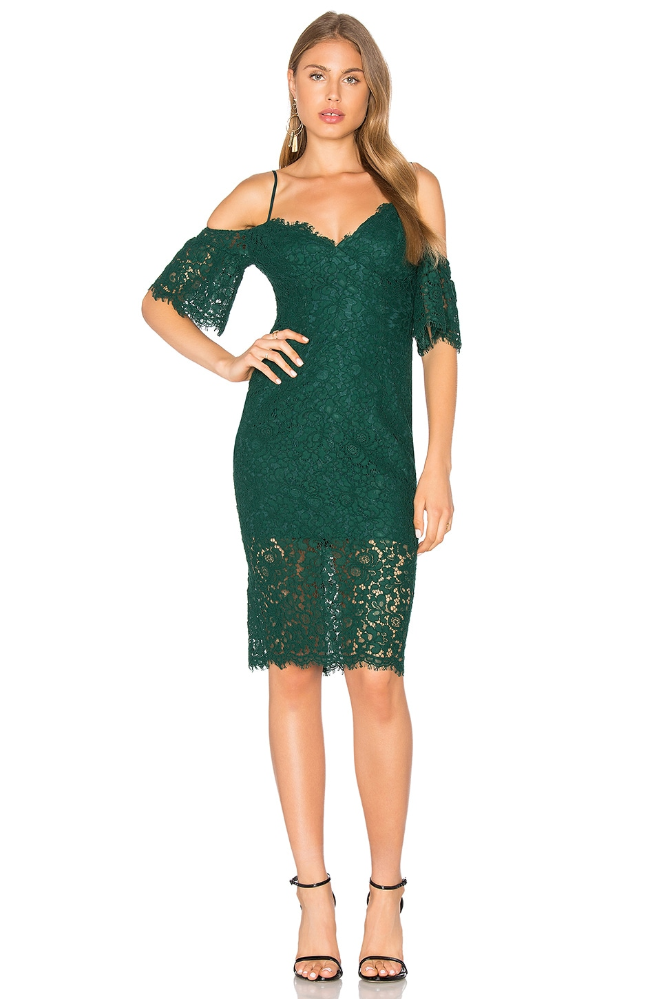 Bardot Karlie Lace Dress in Alpine