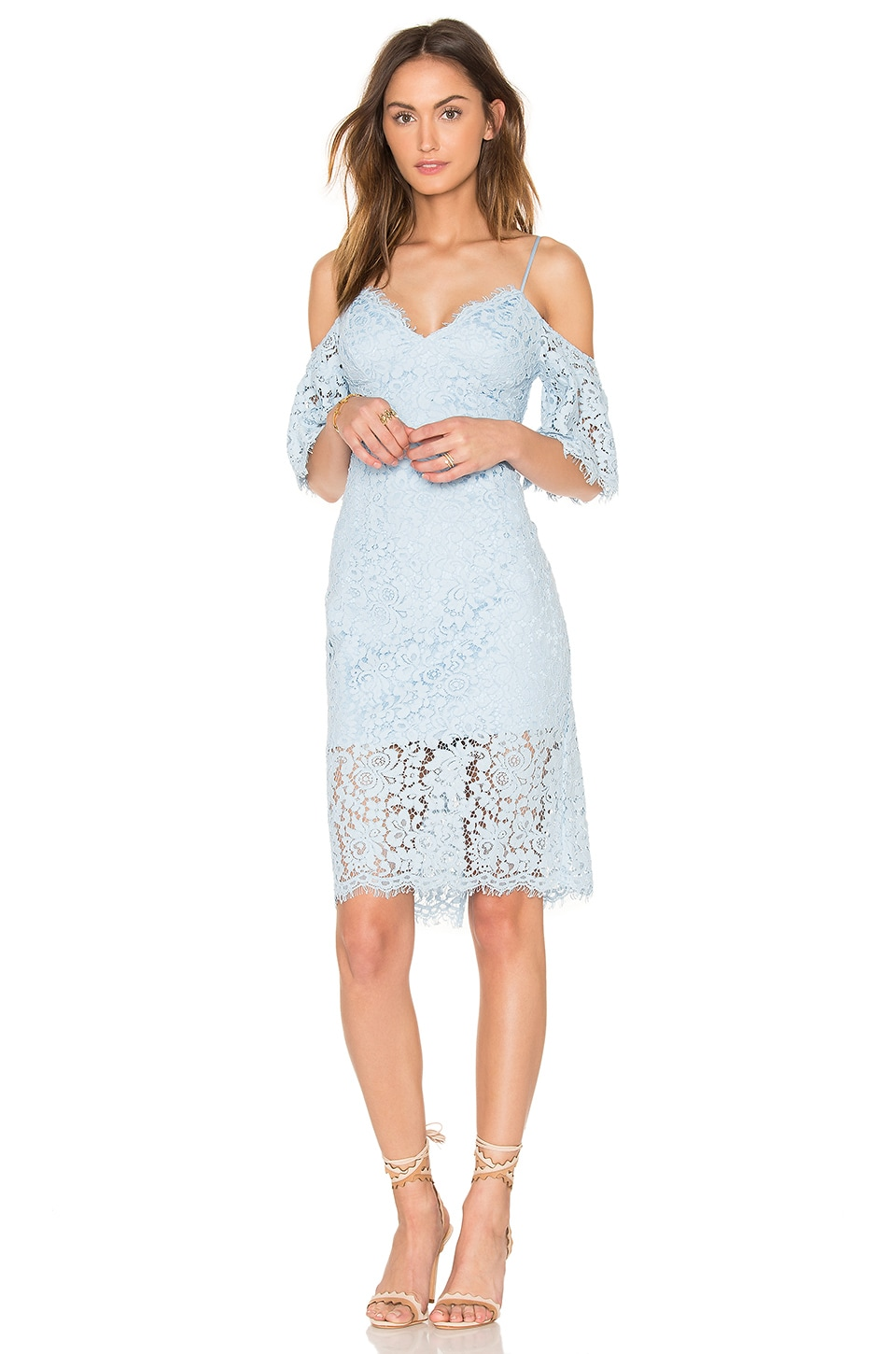 Bardot Karlie Lace Dress in Sky Blue