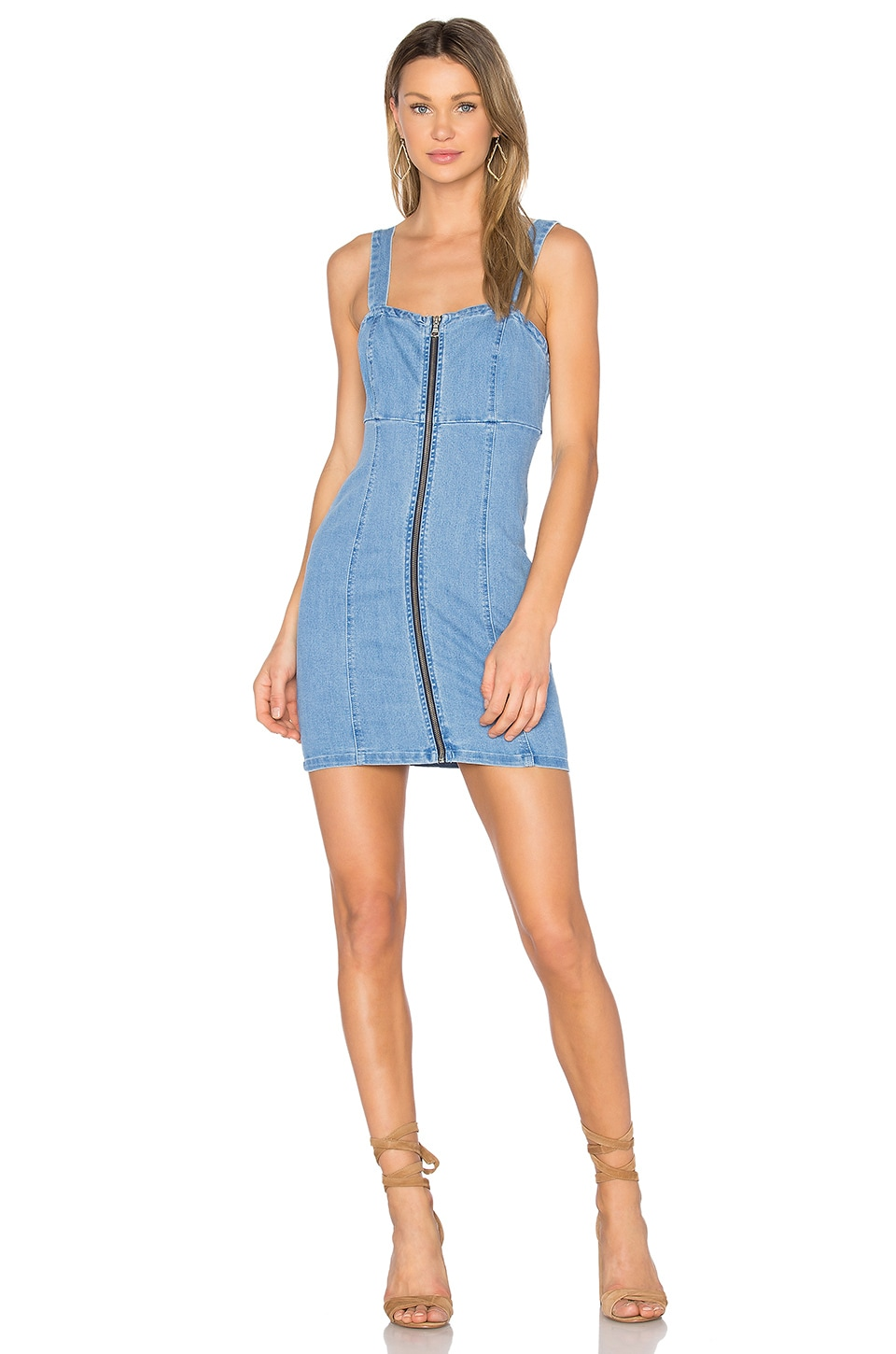 Bardot Winona Denim Dress in Oxide Blue