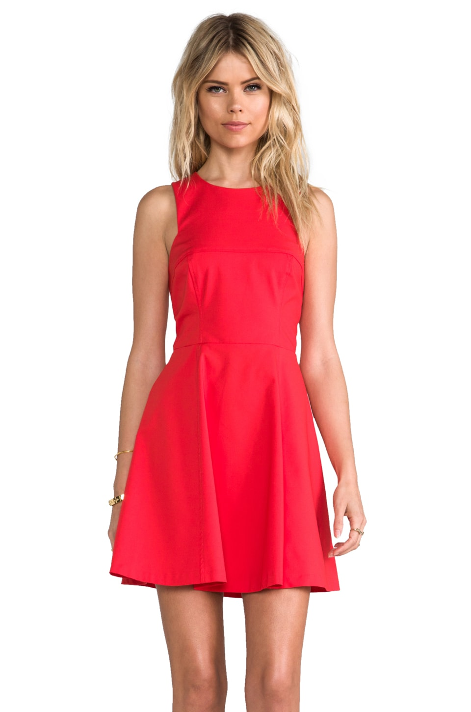 Bardot Nolan Skate Dress in Red
