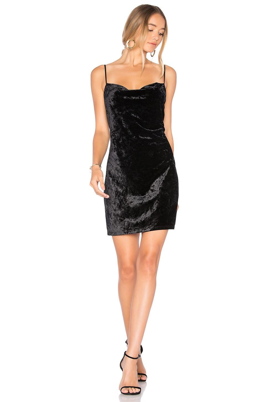 Velour Slip Dress by Bardot