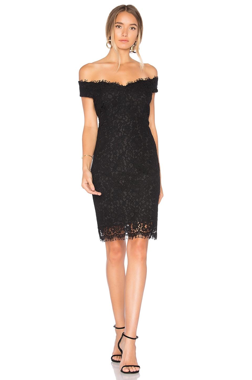 060150dff378 Bardot Tara Lace Off Shoulder Dress in Black