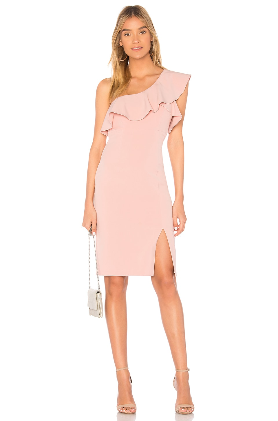 Bardot Ruffle Dress in Pastel