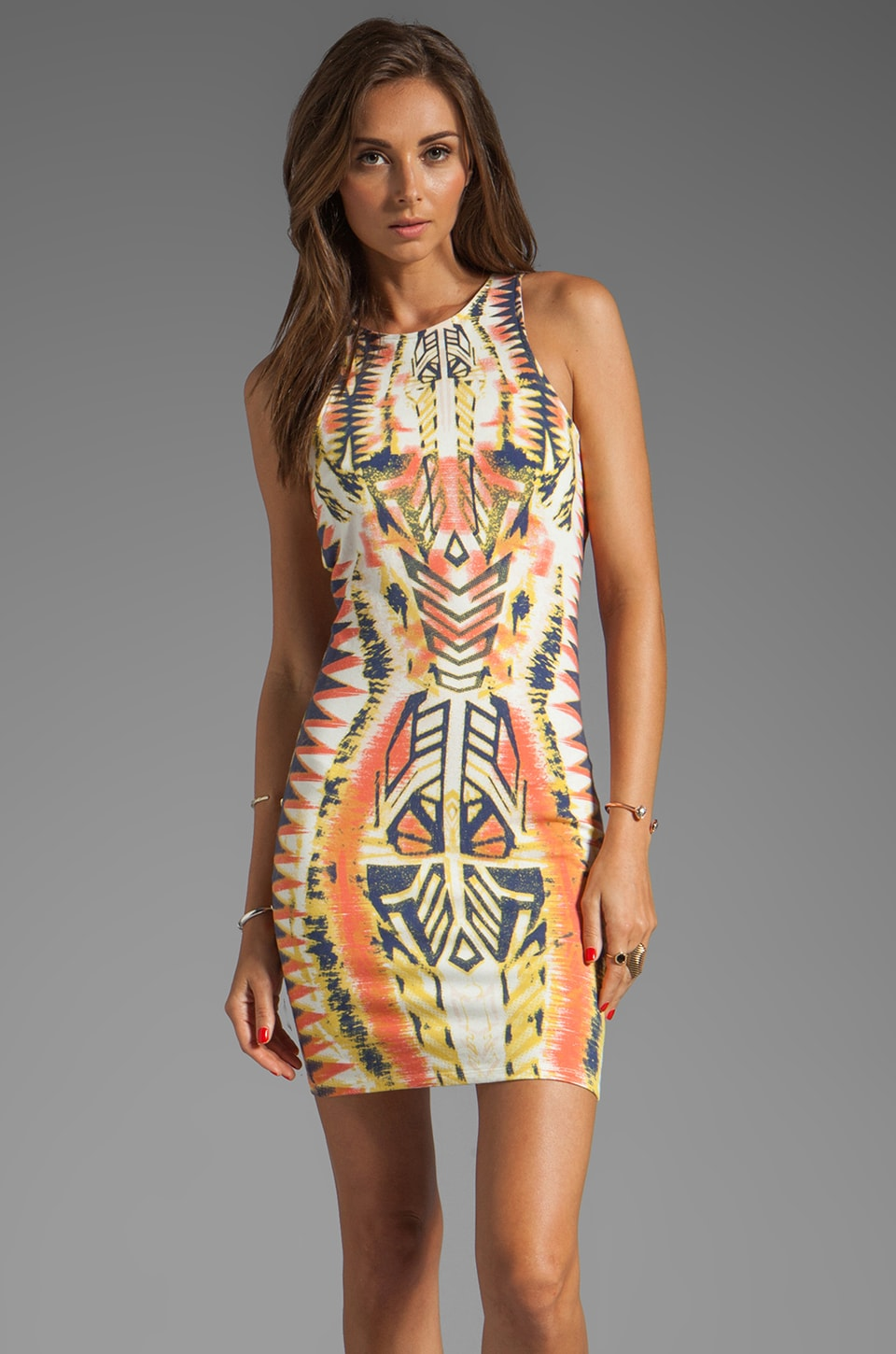 Bardot Rider Print Dress in Multi
