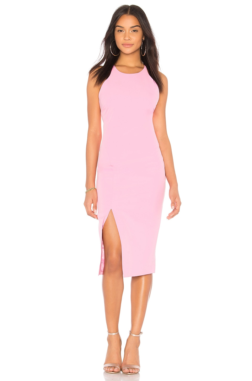 Bardot Low Back Dress in Pink