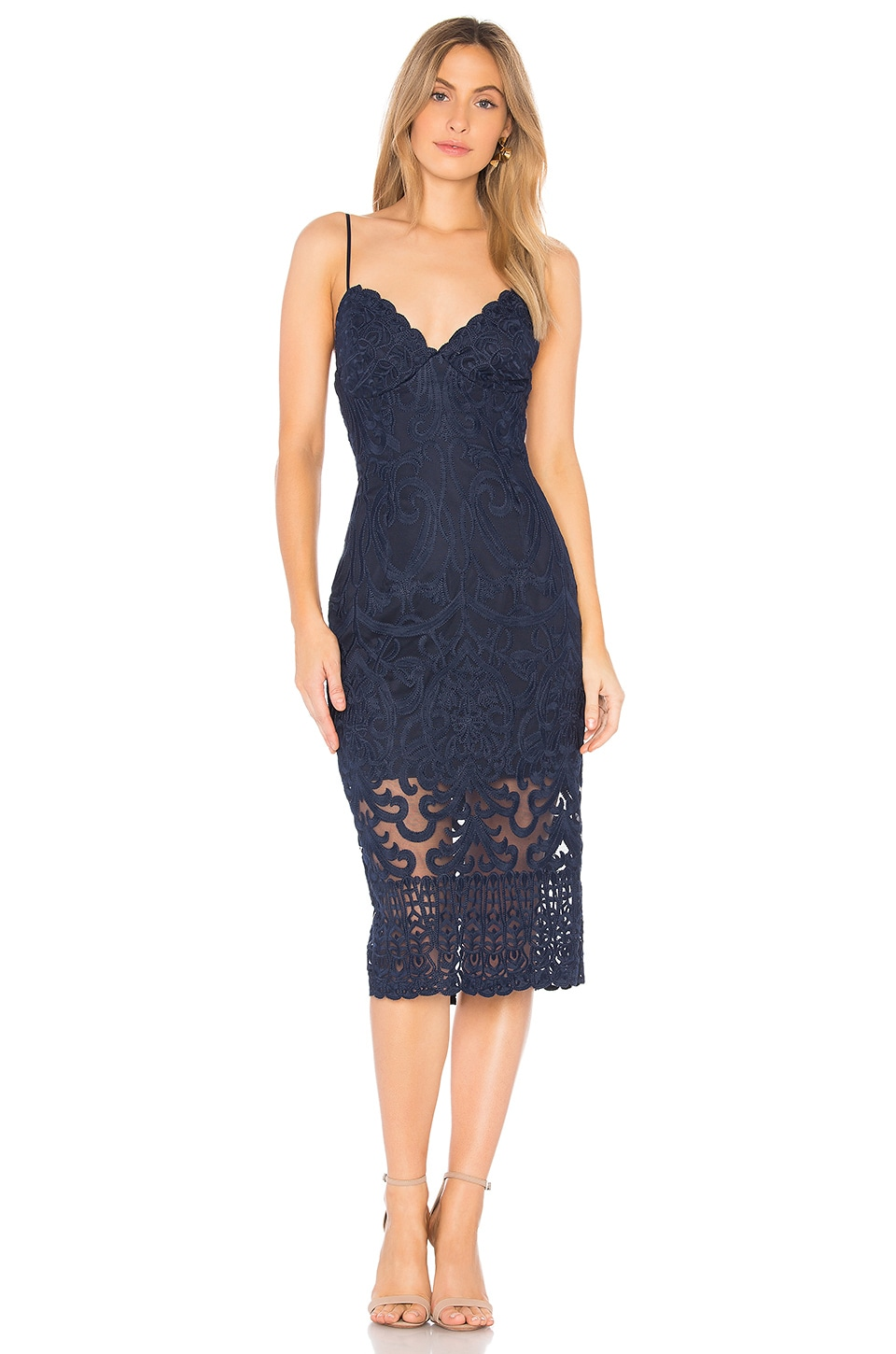 Bardot Gia Dress in Navy