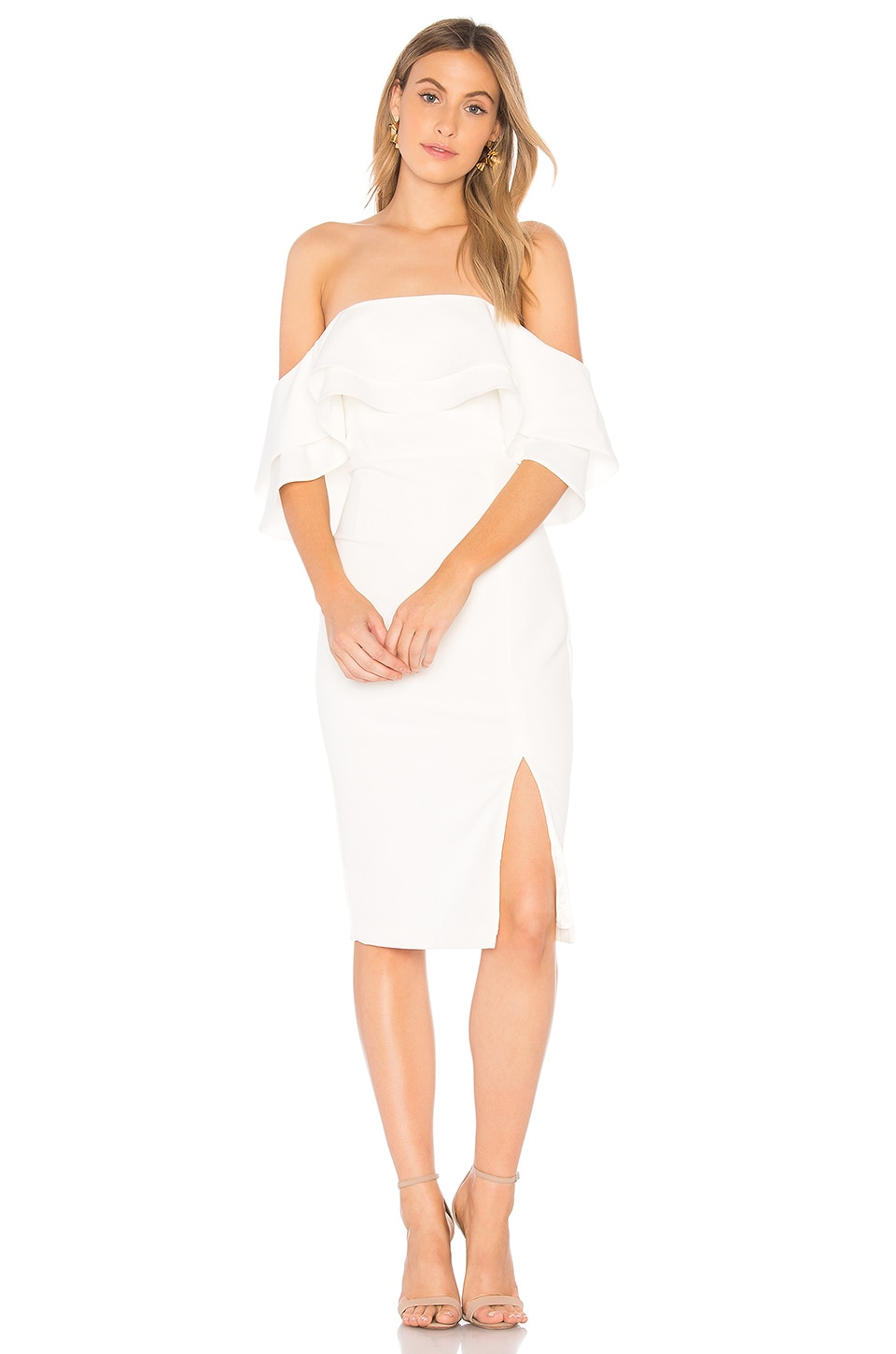 Bardot Band Dress in Ivory