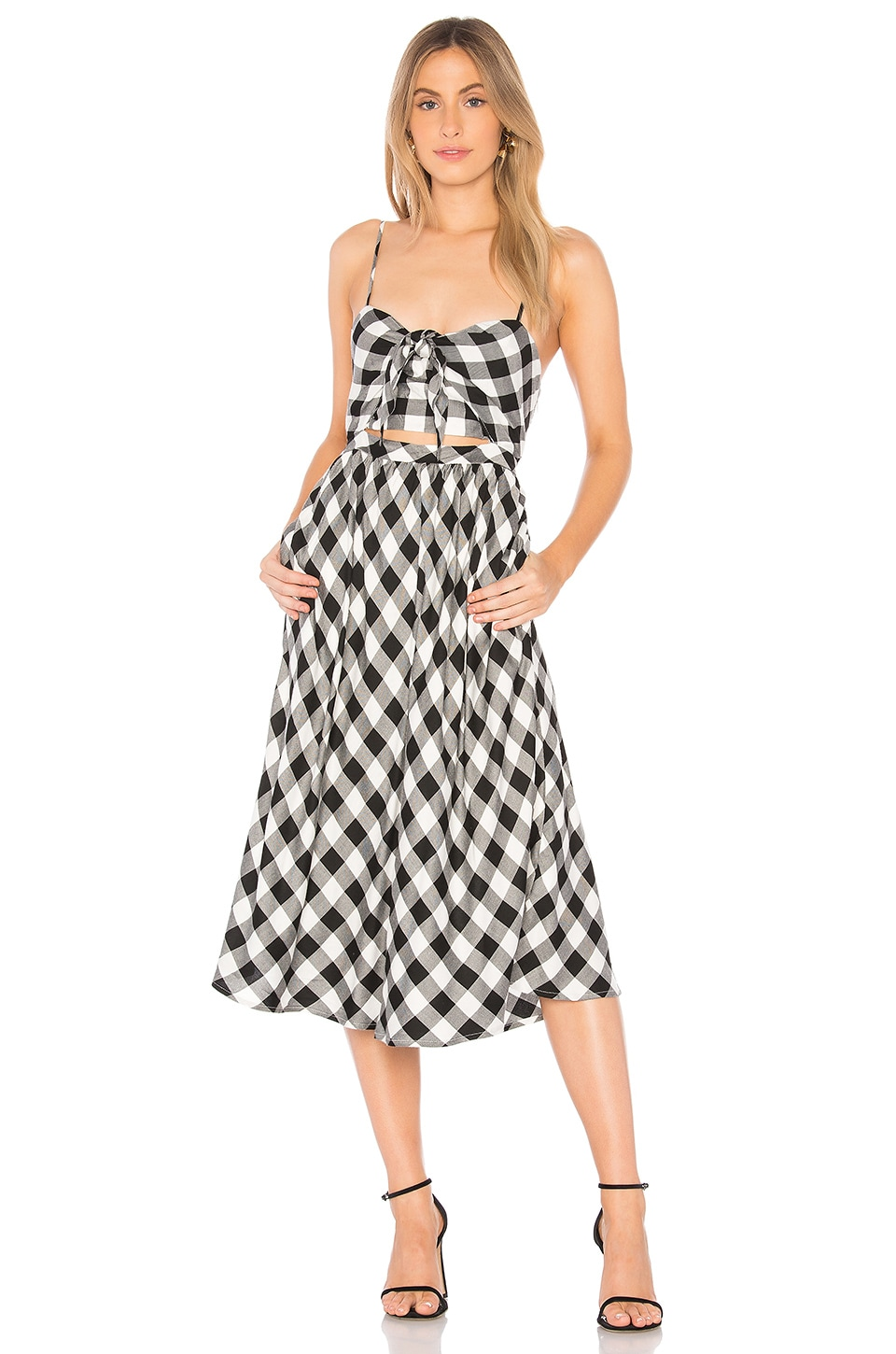Bardot Ibiza Sundress in Gingham