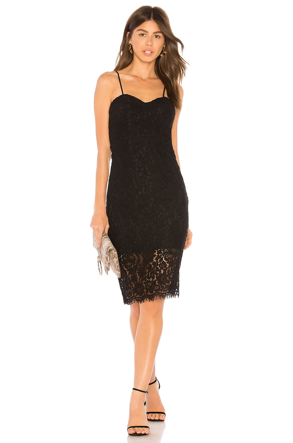 Bardot Pierre Lace Dress in Black