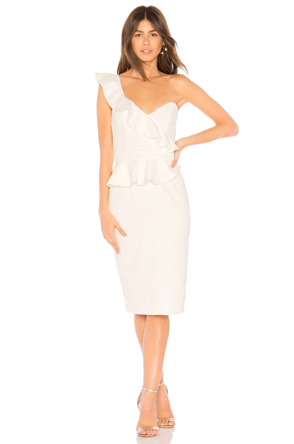 Bardot Camelia Dress in Ivory