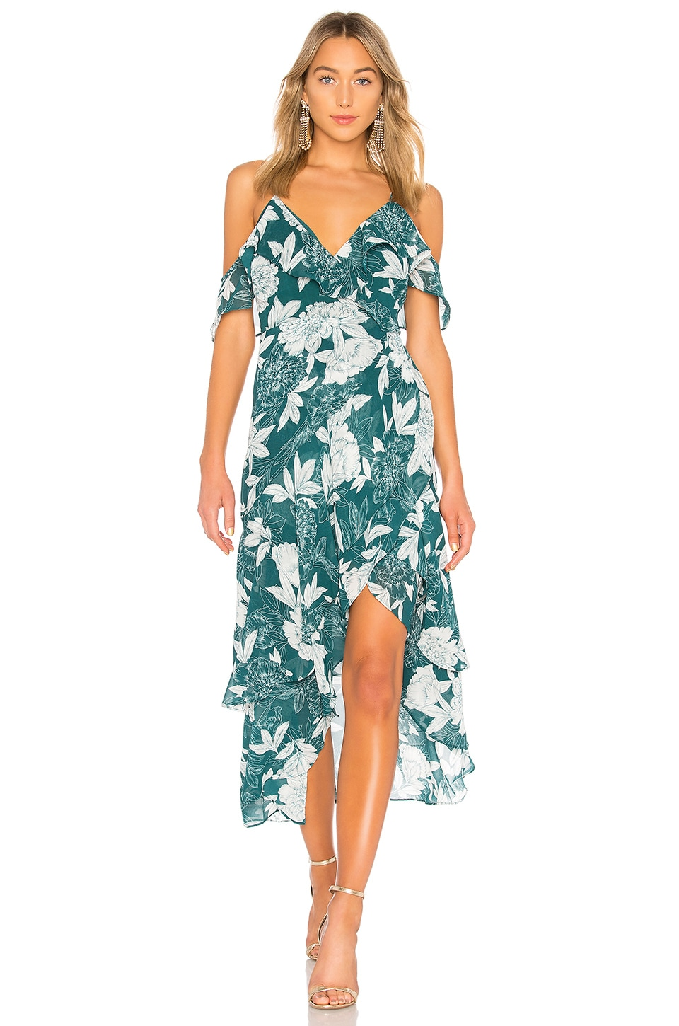 Bardot Floral Party Dress in Statement Floral