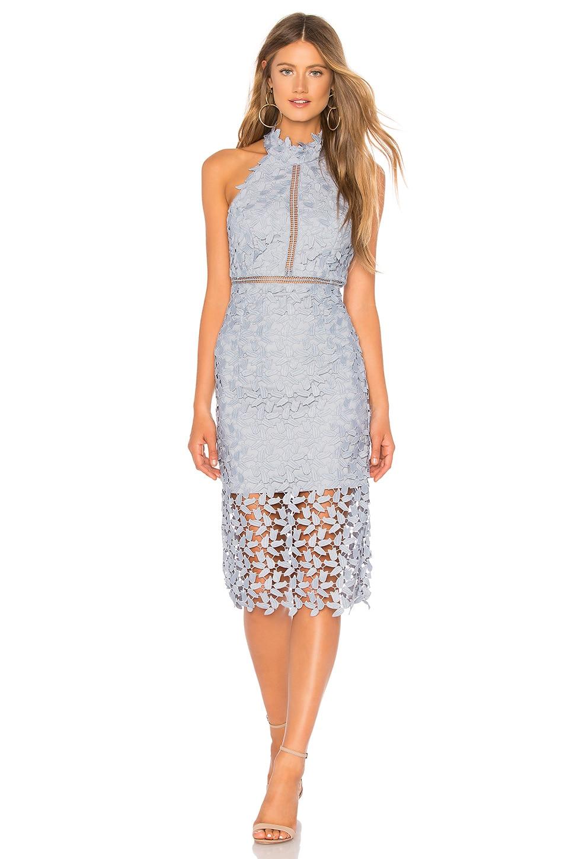 Bardot Gemma Dress in Dusty Blue