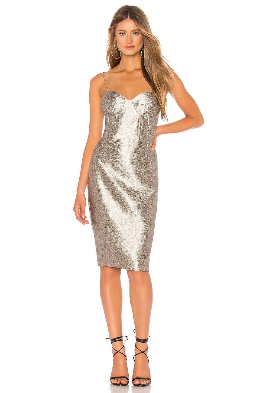 Bardot Shimmer Dress in Golden