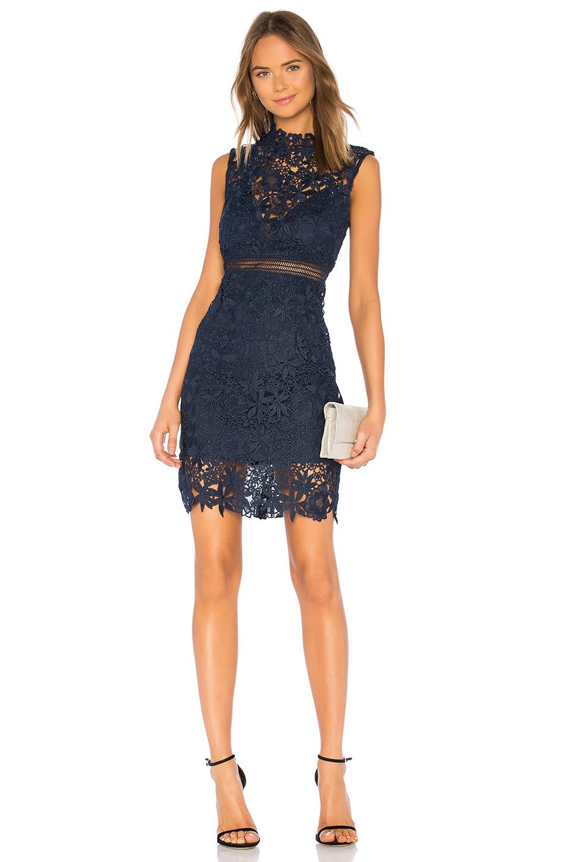 Bardot Paris Lace Dress in Twilight