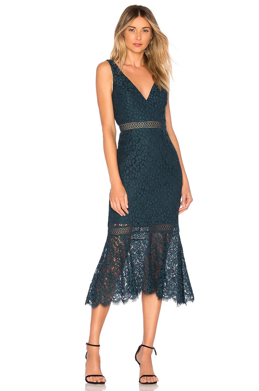 8cfb9e1a15ba Bardot Sienna Trumpet Dress in Ash Blue | REVOLVE