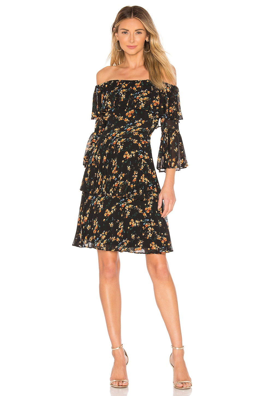 Bardot Ditsy Pleat Dress in Water Floral