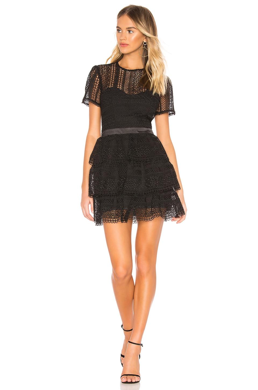 Bardot Ava Lace Dress in Black