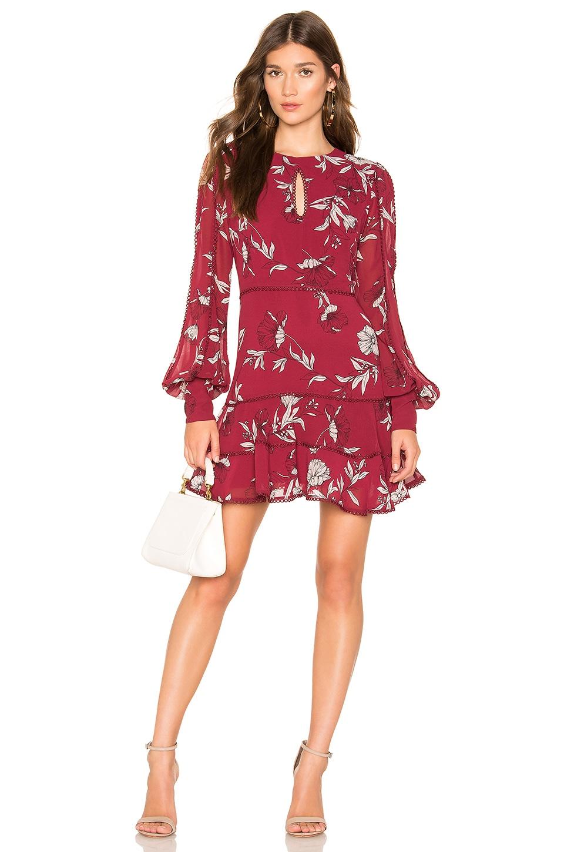 Bardot Tammy Trim Dress in Boysenberry