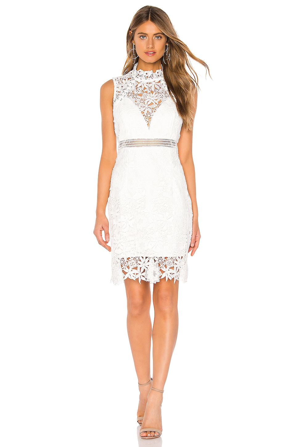 Bardot Paris Lace Dress in Ivory