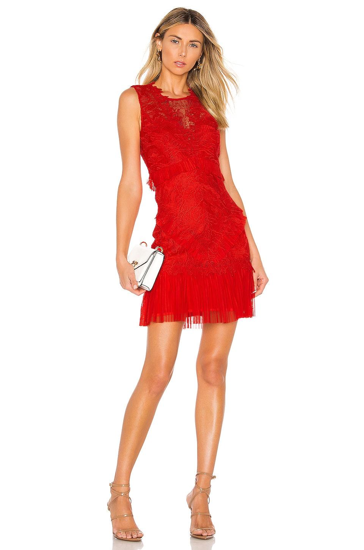 Bardot Francesca Dress in Fire Red