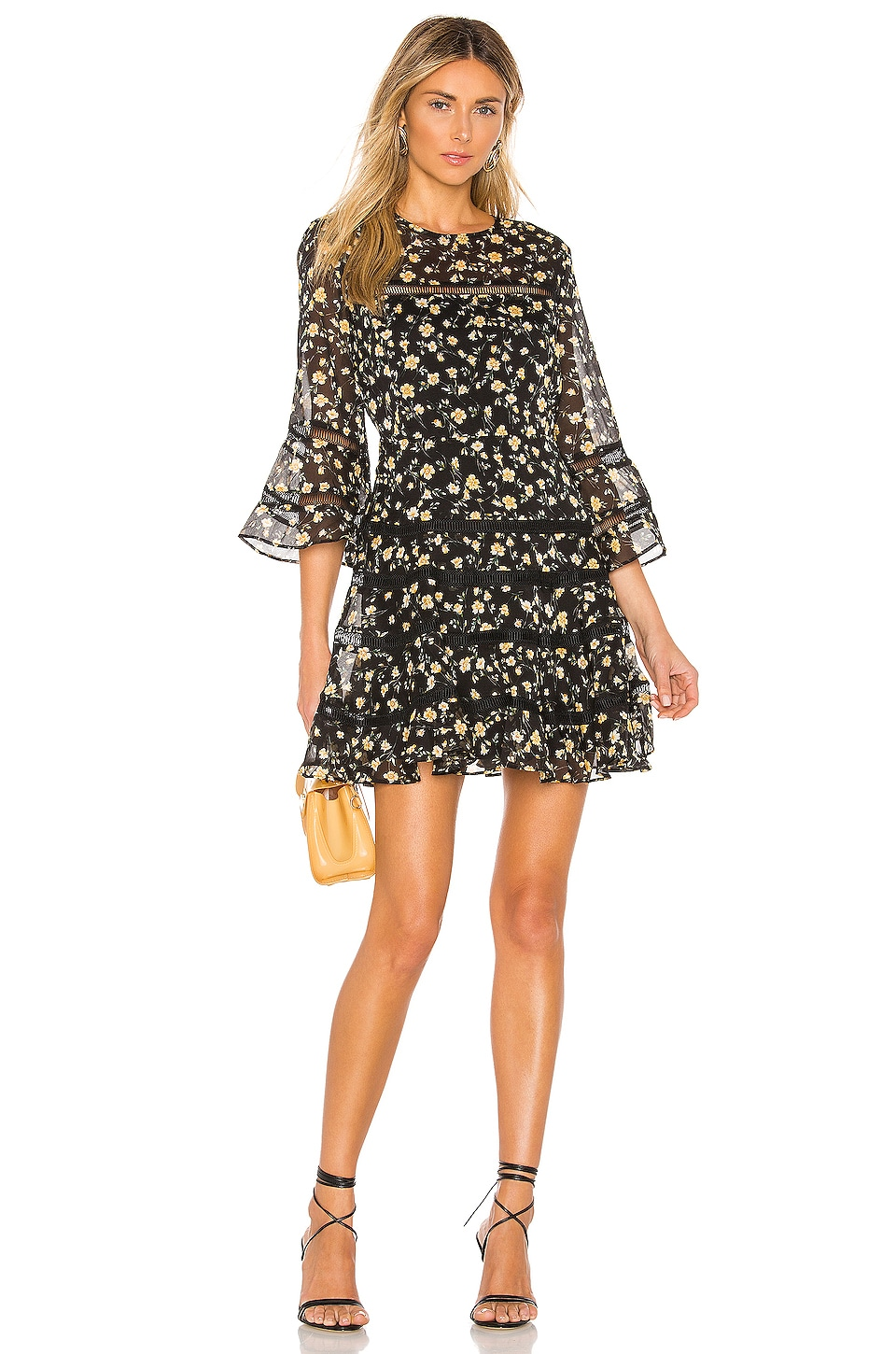 Bardot Poppy Trim Dress in Monica Floral