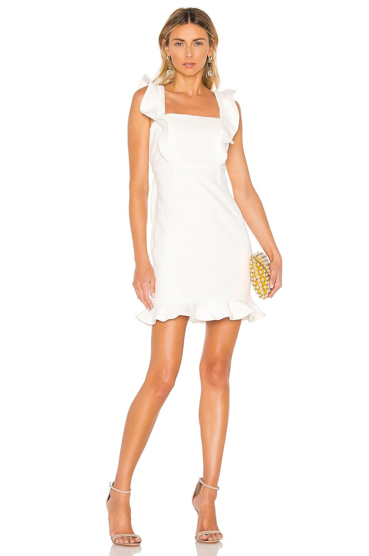 Bardot Ashley Frill Dress in Ivory