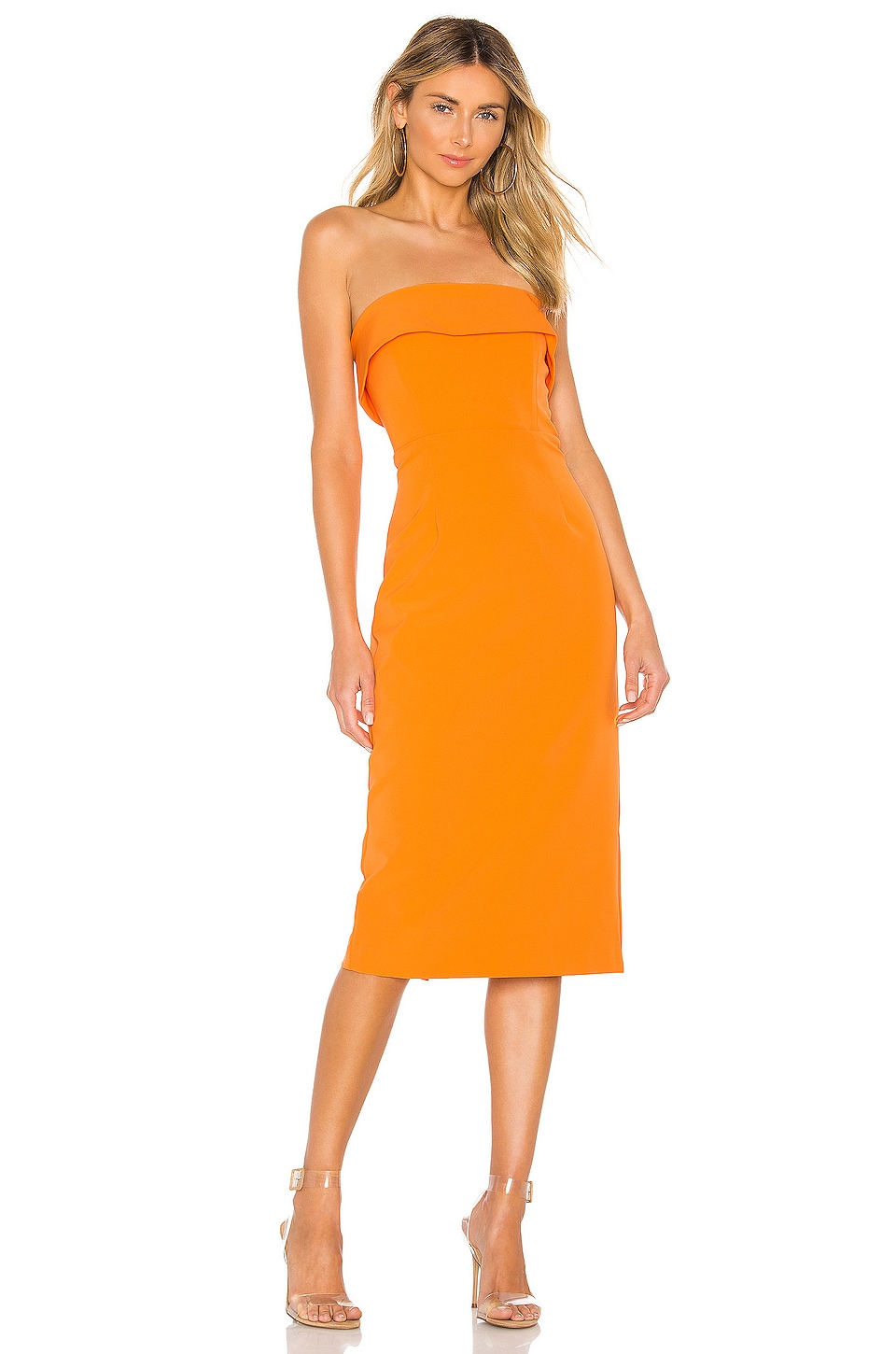 Bardot Georgia Dress in Mandarin
