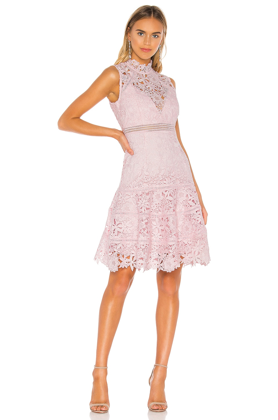 Bardot Elise Lace Dress in Washed Pink