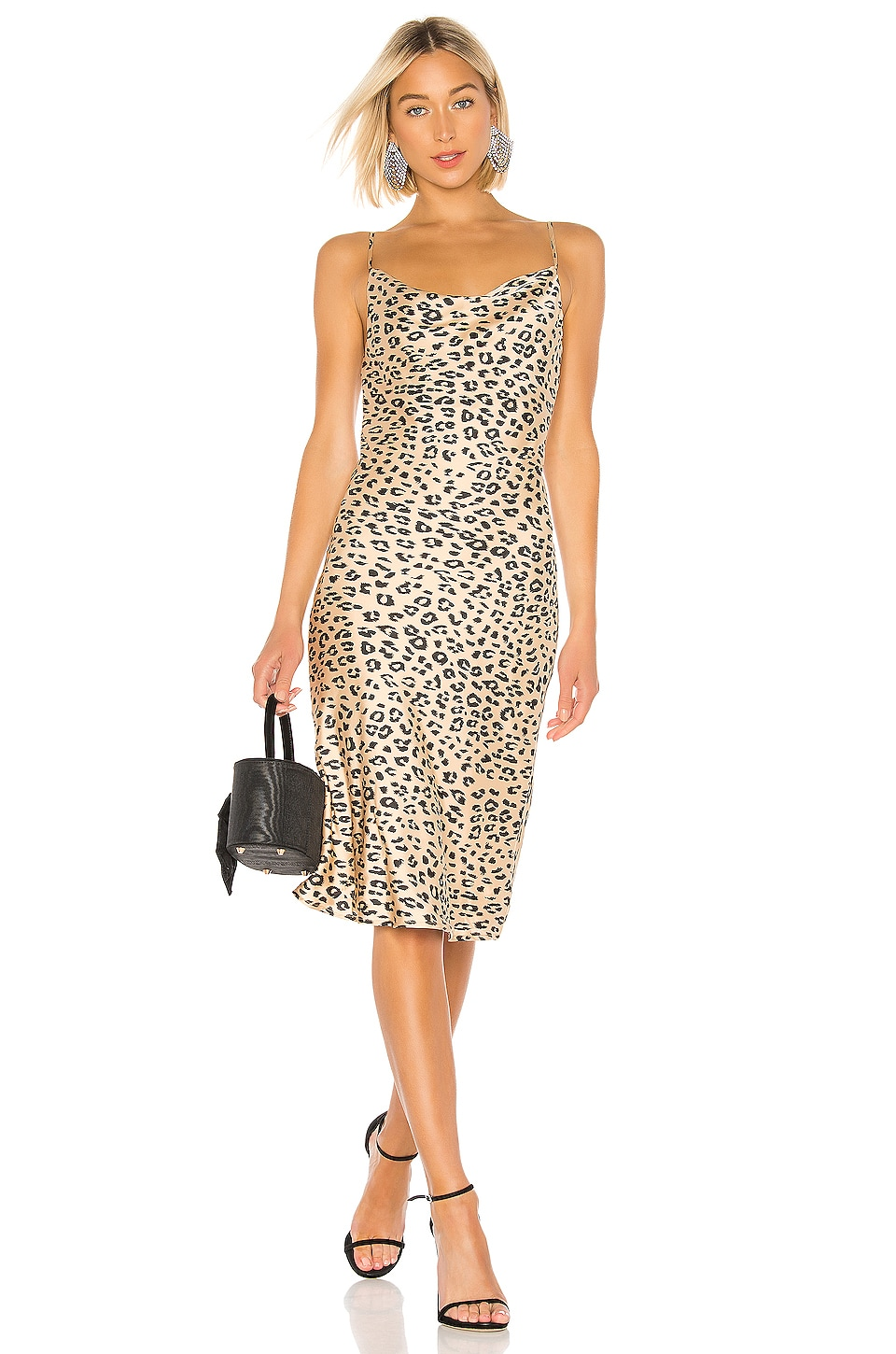 Bardot Leopard Slip Dress in Leopard